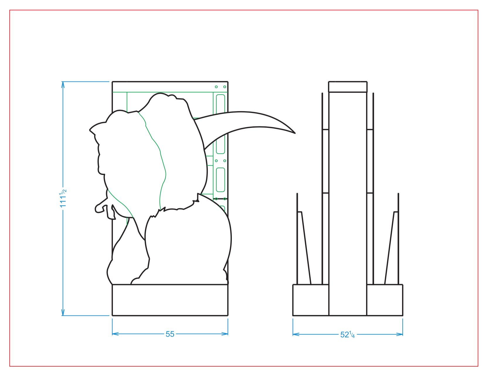 Jurassic World: Fallen Kingdom entryway line drawing